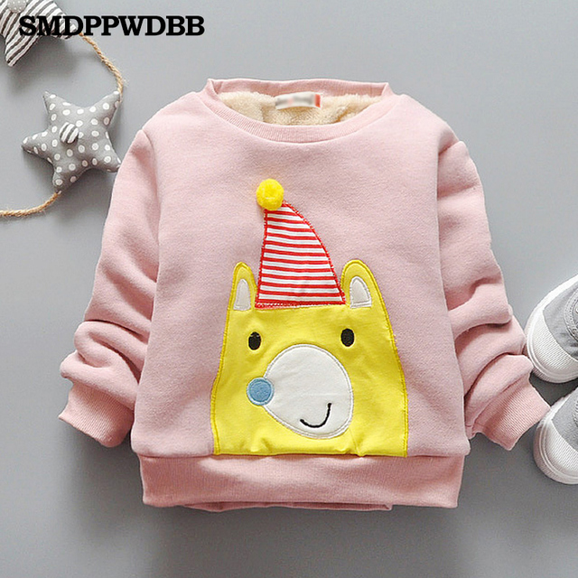 5307a22c3c SMDPPWDBB Casual Children Hoodies Boys Keep Warm Winter Cartoon Sweatshirts Girls  Cute Sweater Kids coat jacket clothing velvet