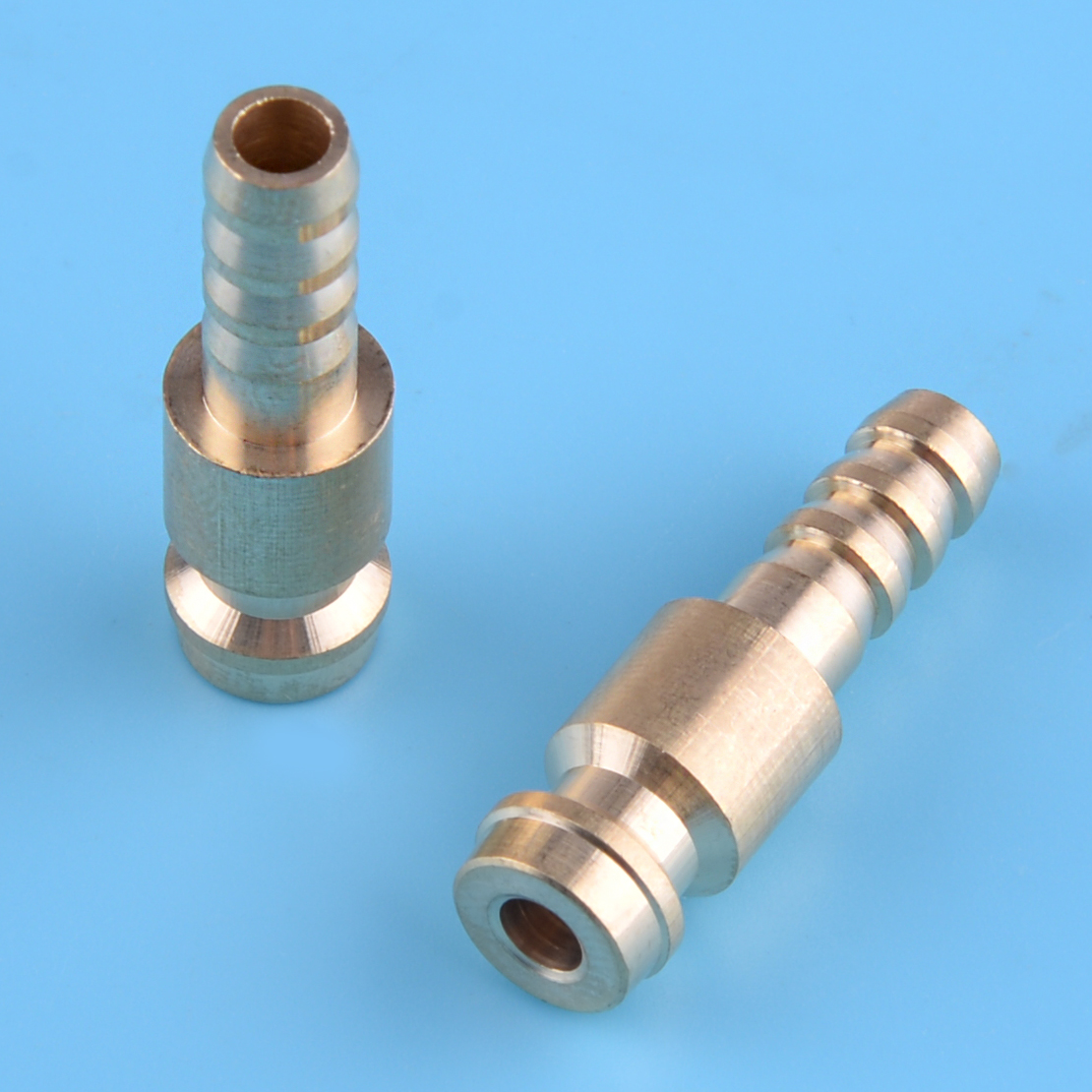 LETAOSK 2pcs 6mm Gold Dia. Gas & Water Male Adapter Quick Connector Replacement For TIG Welding Torch Intake