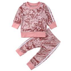 Traje de treino para meninas e meninos, roupas para bebês, 1 2 3 4 5 anos, veludo, manga longa, traje esportivo traje fantasia para criança