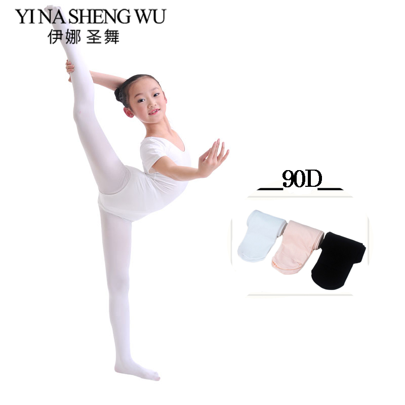 New Children Dance Leggings Kid Girls Professional Dance Ballet Tights Soft Microfiber Socks Dancing Leggings 90D Without Hole(China)