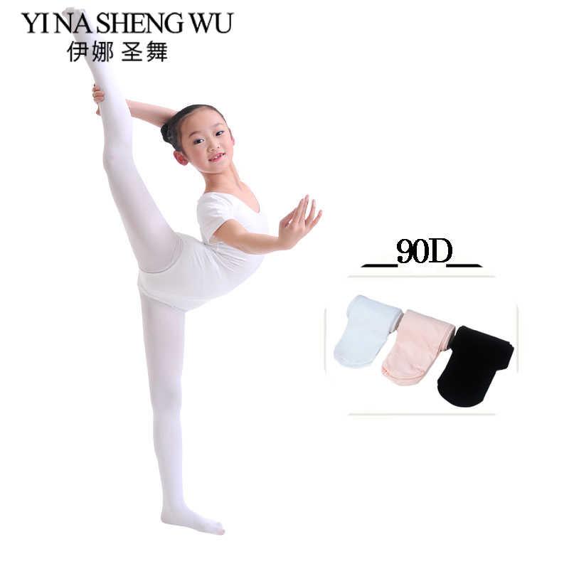 Neue Kinder Tanz Leggings Kid Mädchen Professionelle Dance Ballett Strumpfhosen Weiche Mikrofaser Socken Tanzen Leggings 90D Ohne Loch