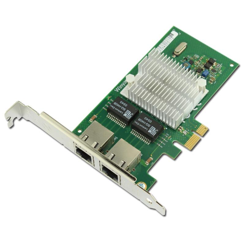 PCIe X1 Dual Port Gigabit Ethernet Network Adapter Card NH82580DB Chipset I340T2 стоимость