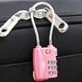 Reajustable de 3 Dígitos Combinación de Viaje Equipaje Maleta Código Candado TSA Contraseña De Bloqueo para el Bolso Mini Negro/Azul/Astilla/rojo