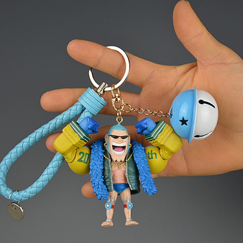 Anime One Piece Pendant Keychain PVC Hand To Do Model Francis Bell Doll Character Action Collection Christmas Toy Doll Gift Hot