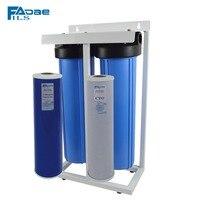 Filsadae 2-Stage Вертикальный весь дом фильтрации воды Системы с 20