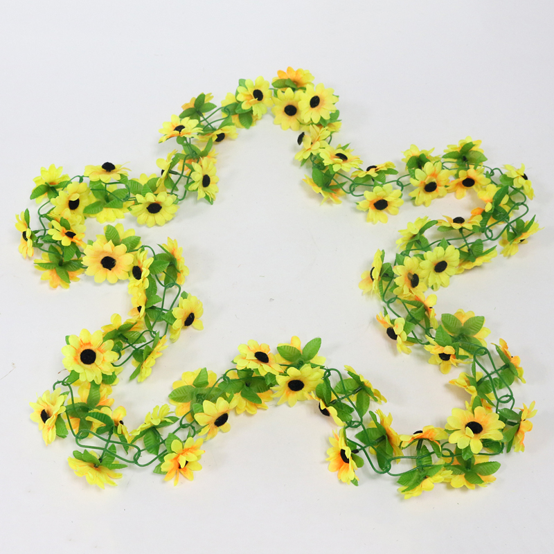 artificial flowers simulation flower cane wholesale Sunflower cane Sunflower cane home flowers decoration (10)