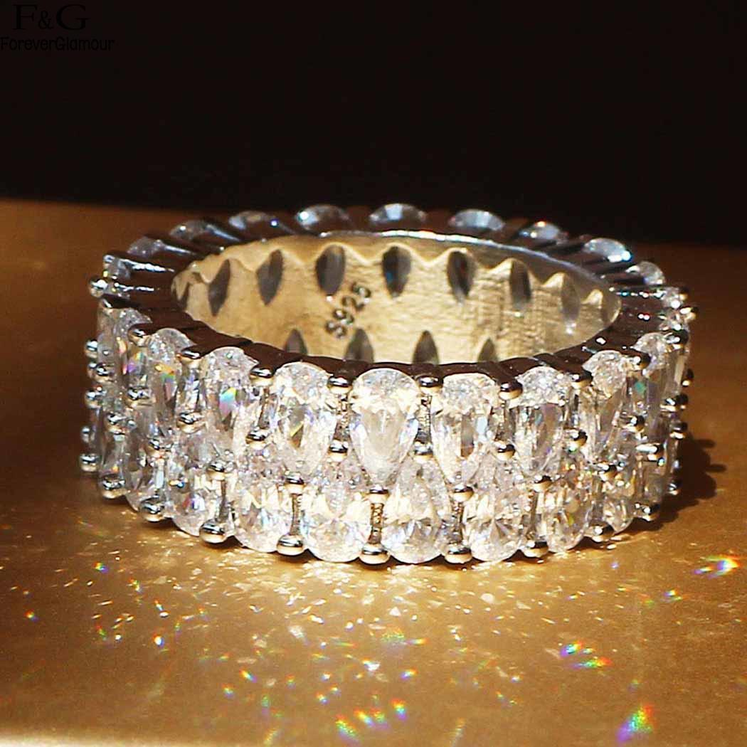 Ring Fashion Casual Rhinestone Decoration Women Various Sizes