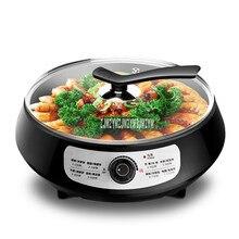 4 см глубина электрическая противень сковородка для блинов машина антипригарная мульти плита блинница для мяса, стейка выпечки жарочная машина