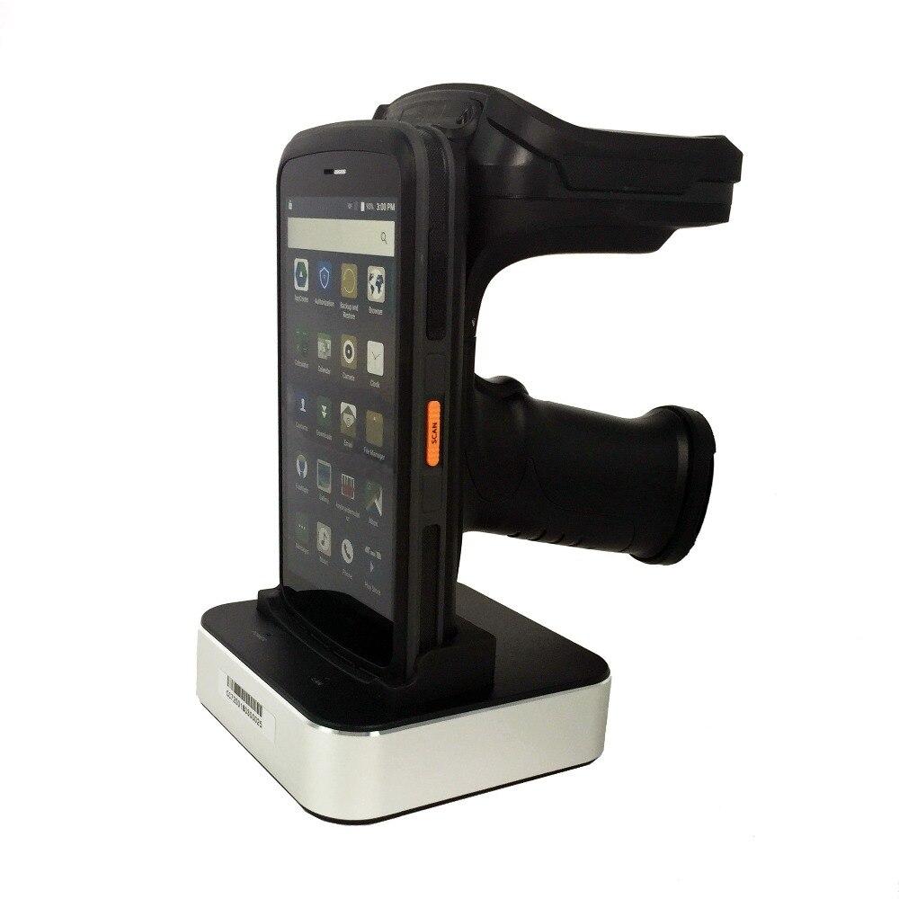 Android 6.0 PDF417 Barcode Scanner leitor RFID UHF de Longa distância de leitura tag 10M 4G Handheld PDA computador com 13MP câmera