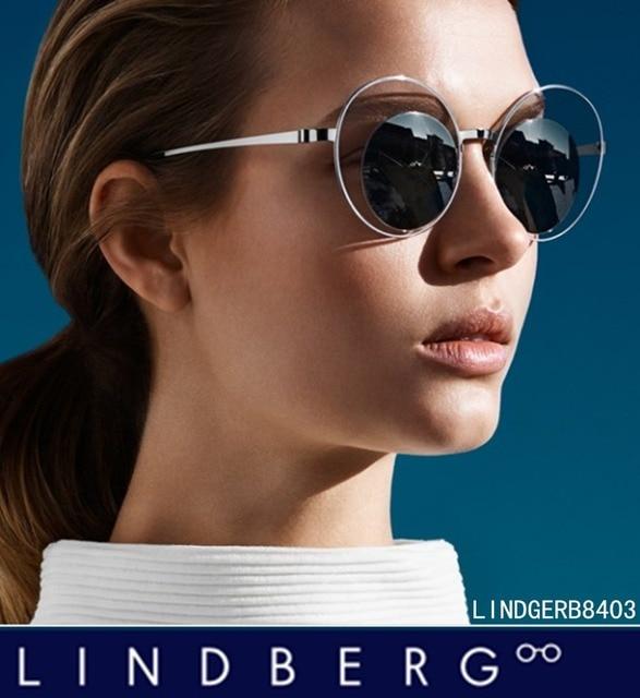 c2a1a00e2d Fashion Vintage Big Round frame Women sunglasses Lindberg Mirror Multi lense  sun glasses Screwless eyewear with original package