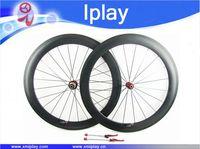 IPLAY 60mm carbon wheelset 700C clincher chinese carbon road bike wheels Novatec271/372 cheap bike wheels Carbon Racing Wheelset