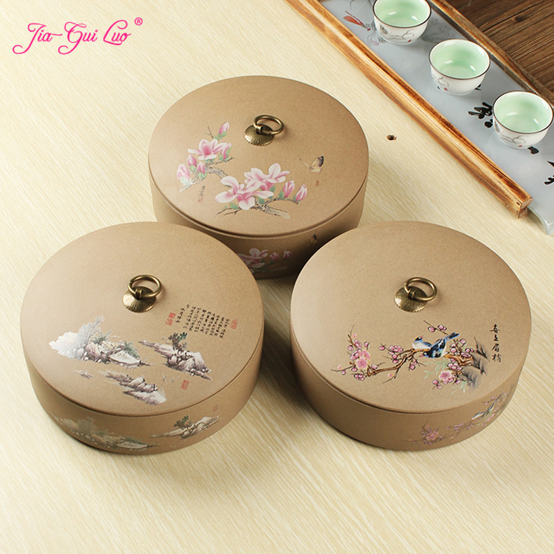 JIA GUI LUO Ceramic tea box Dried fruit storage cans Sealed bottle Tea Accessories Pu er