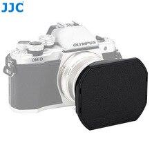 JJC LH J48II kamera czarna osłona przeciwsłoneczna z kapturem czapka dla produktu firmy Olympus M. zuiko Digital ED 12mm f/2.0 obiektyw zastępuje produktu firmy Olympus LH 48