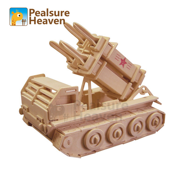 3D Puzzle Patriot Missile Educational Toys Wooden  Building Scale Model of Miniature DIY for children gift