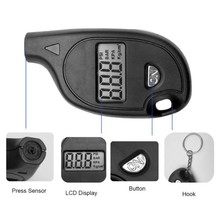 Car Tire Pressure Gauge Meter Tyre Wheel Digital LCD Mini Air Manometer Tester Keychain Motorcycle