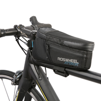 ROSWHEEL MTB Mountain Bikes Bicycle Bags Panniers Frame Front Tube Bag For Cell Phone Waterproof Saddle