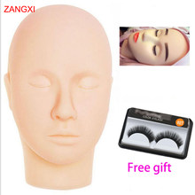 High Grade Soft Massage Flat Mannequin Head Makeup Practice Professional Dolls Head Training Cosmetology Heads Eyelash Mannequin(China)