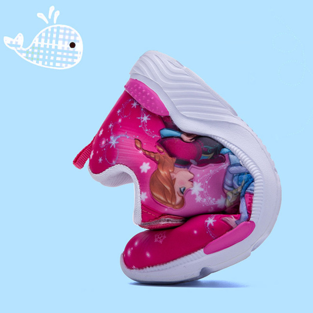 2019 Spring New Children Shoes Girls Sneakers Elsa Anna Princess Kids Shoes Fashion Casual Sport Running Leather Shoes for girls