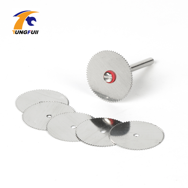 Tungfull 10pcs Dremel Mini Circular Saw Disc Abrasive Hss Blades Tool Cutting Wheel Wood Carving Tools Rotary Cut Off Tool