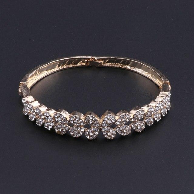 Conjunto de joyería para mujer a la moda 2018, conjuntos de joyería de cristal para novia, bisutería para fiesta, collar, pendientes, joyería con Cajas de Regalo