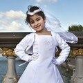 2017 Новая Мода Девушки Цветка Болеро Дети Свадьба Невесты Плечами Дети Короткая Куртка