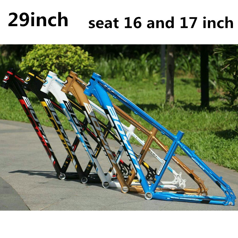 BOYIN  brand XC Aluminum alloy mtb frame 29er mtb  mountain bike frame 16inch seat size or 17inch  bicycle frame mtb mountain bike frame tw3900xc aluminum alloy frame 26 27 5inch student bicycle 31 6 seat tube