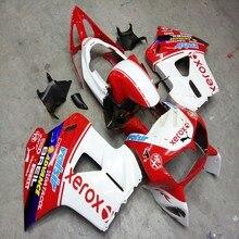 Custom motorcycle ABS Fairing for VFR800 1998 1999 2000 2001 VFR 800 98 01+Botls+white red M2