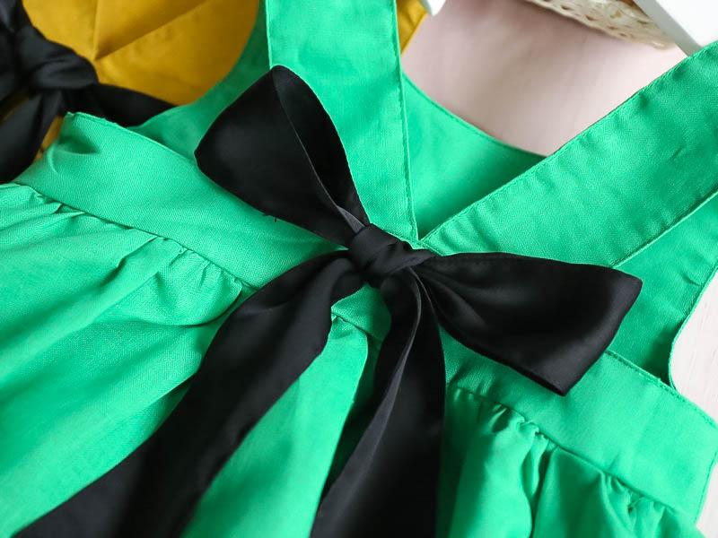 HTB1YC 3RXXXXXa6XFXXq6xXFXXXN - Hurave Summer 2017 New Cute Style Fashion Sleeveless Girls Bow Dress Girl Clothing For Children Cute Dresses Vestidos
