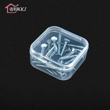3pcs/lot Clear Lidded Mini Square Plastic Earplug Box For Storage Coin Small Parts Jewelry Screw Case Beads Container Packaging(China)