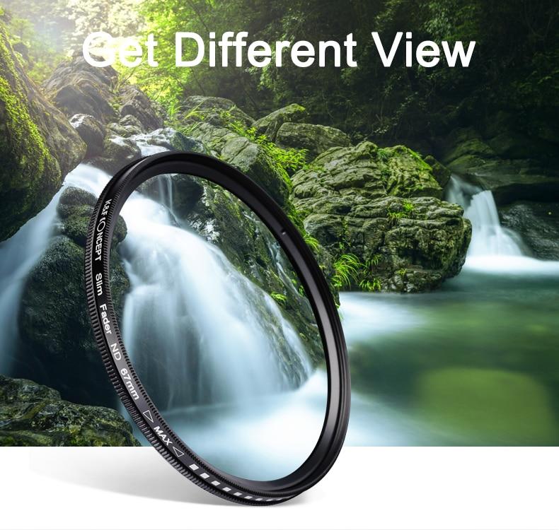 K&F CONCEPT Slim ND2-400 Neytral Sıxlıq Fader Dəyişən ND Filter - Kamera və foto - Fotoqrafiya 2