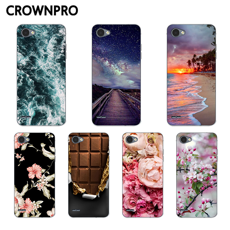 CROWNPRO FOR LG Q6 Case Cover FOR Fundas LG Q6 Alpha Q6A M700 Phone Silicone FOR LG Q6 Plus X600 Q 6 Mobile Cases Soft Back TPU