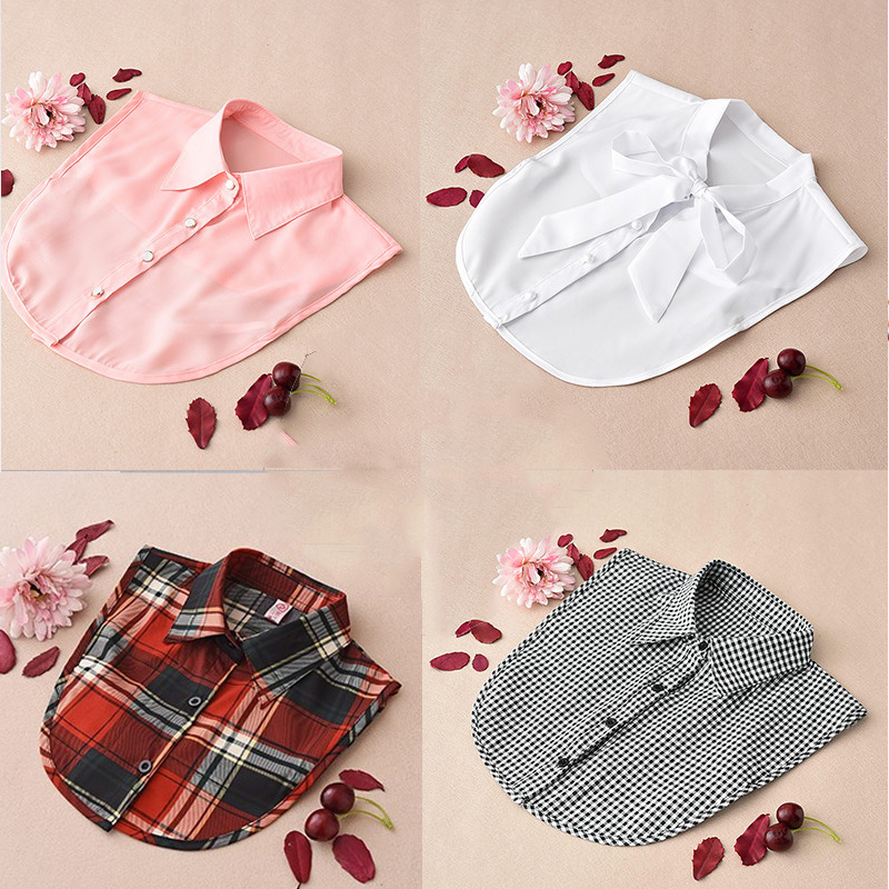 White Women Shirt False Collars Black 2020 Removable Collars For Women Fake Collar Women Detachable Collars Stand Nep Kraagie
