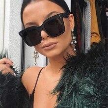 019 Kim Kardashian Sunglasses Lady Flat Top Eyewear Lunette