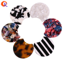 Cordial Design 36*36MM 50Pcs Jewelry Accessories/Hand Made/Acetic Acid Bead/Round Coin Shape/DIY Jewelry Making/Earring Findings
