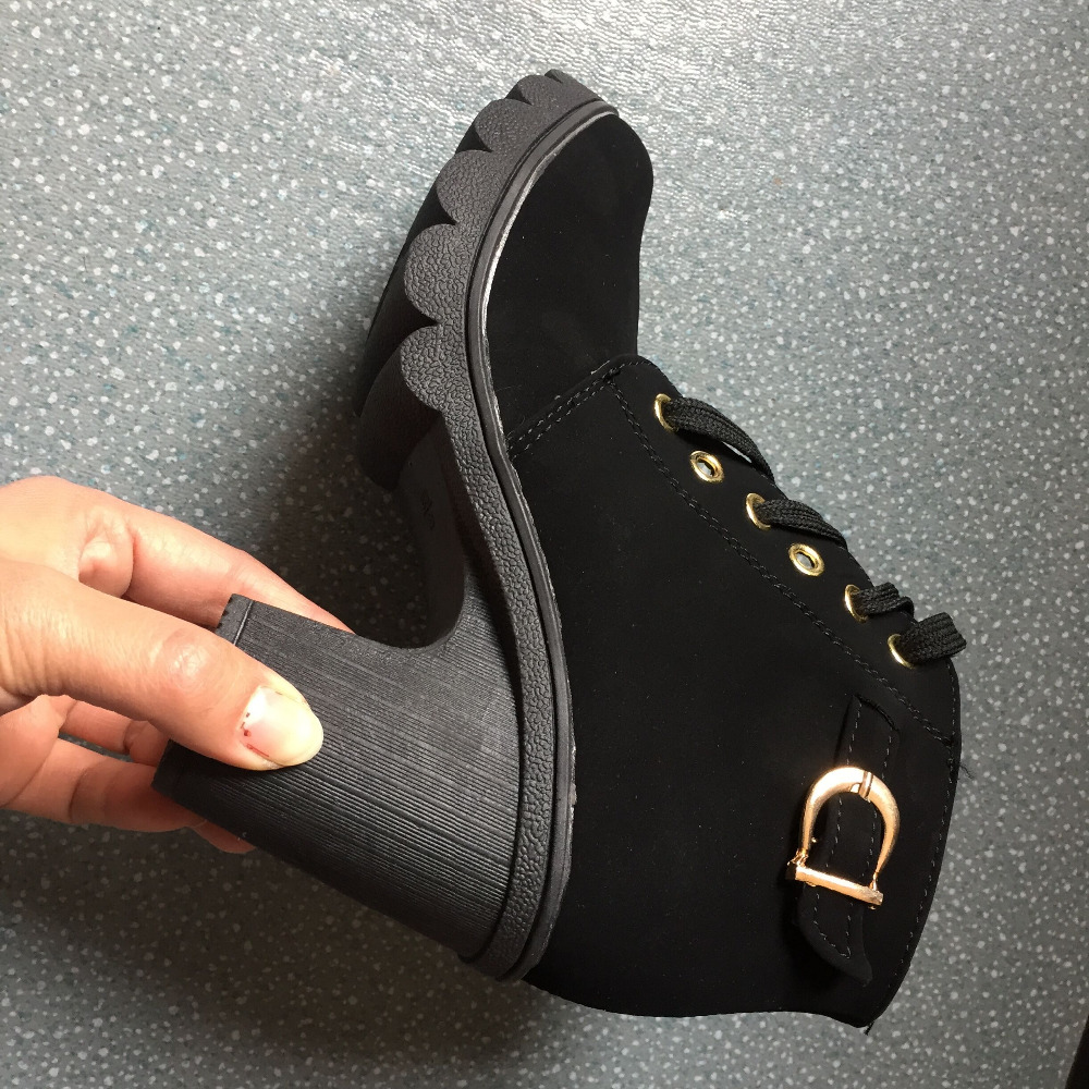 Fashion New Womens High Heels Casual Ankle Boots Lace Up Leisure Shoes Lady aa0506 in Ankle Boots from Shoes