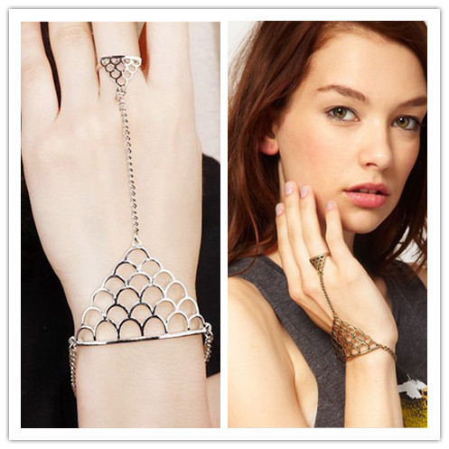 1123ee9b27 Indian slave alloy bracelet with ring attached-in Jewelry Sets from ...