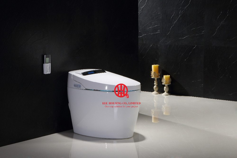 Smart Commode Intelligent Toilet Auto Flush Function One Piece American Standard Smart Toilet With Screen And Remote Control