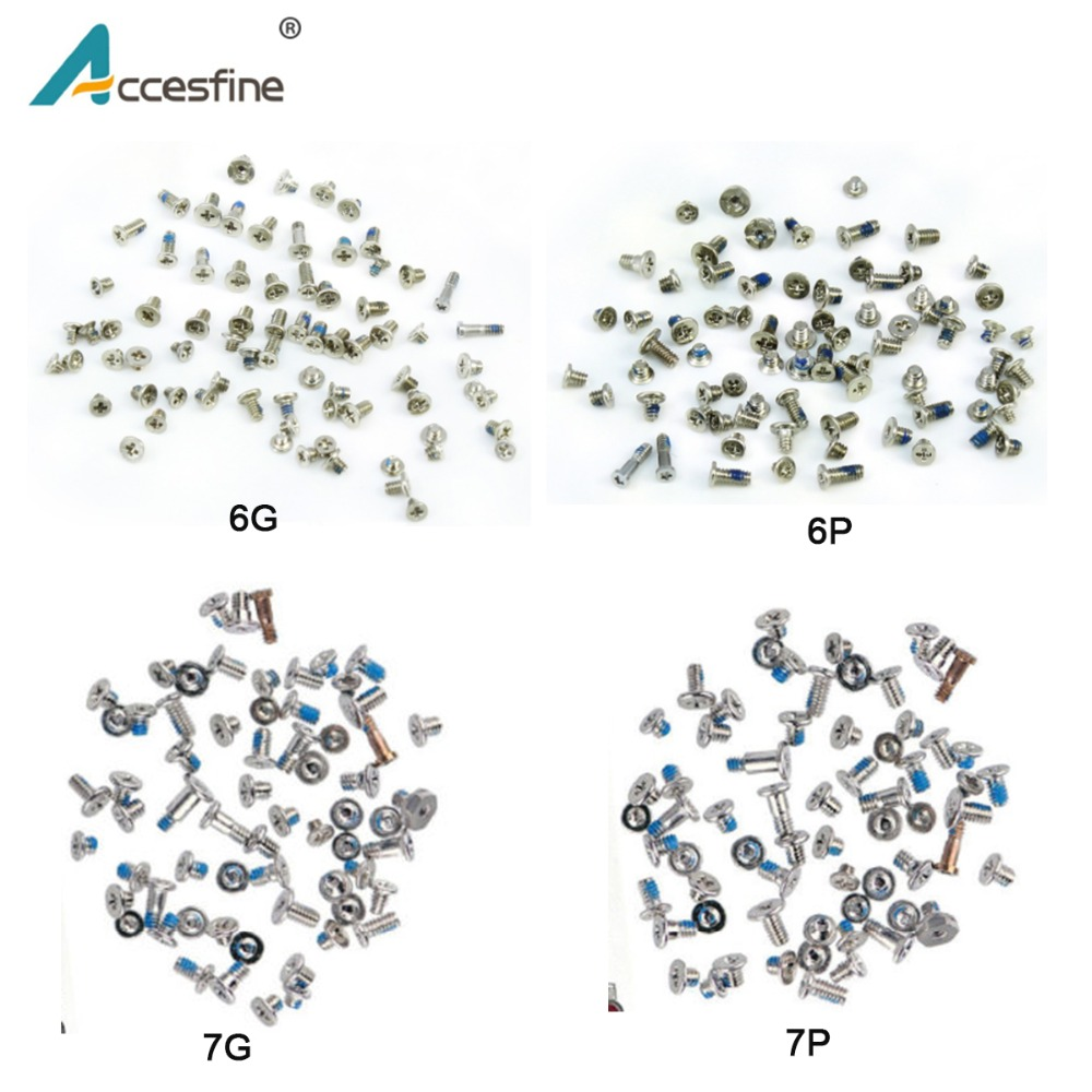 ACCESFINE Brand New Full Screw Set Replacement for iPhone X 8 7 6s 6 Plus Complete Set Screws Fix Parts