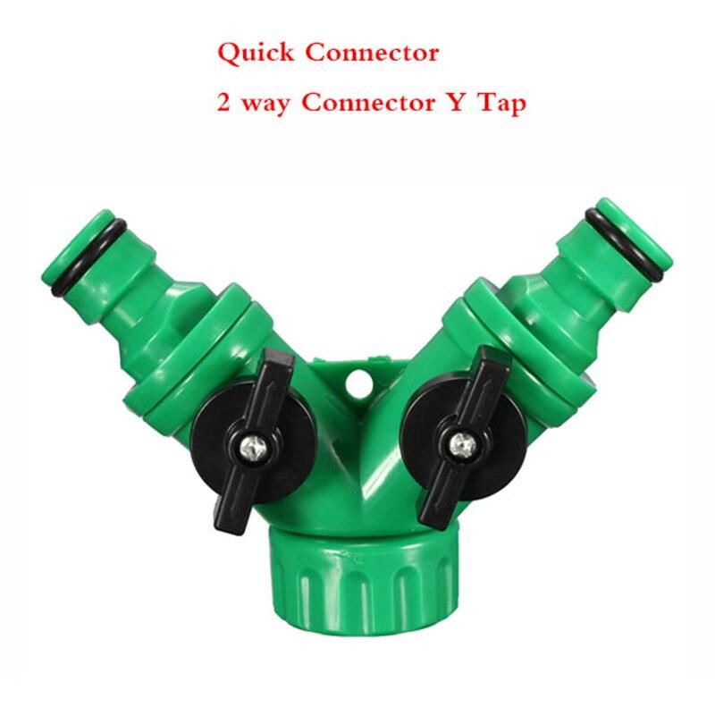 2-Wege-Verbindungsst/ück f/ür Gartenschlauch Quick Connect