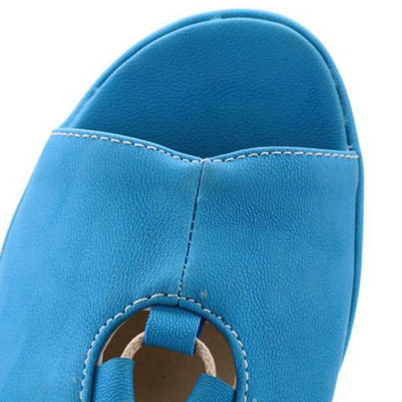 D'été Sexy Plage Éclat Femmes Cales Noir Coins bleu 34 Office Taille Lady Sangle forme ivoire 39 Plate Chaussures Sandales Croix De Jojonunu wp47Bdq7