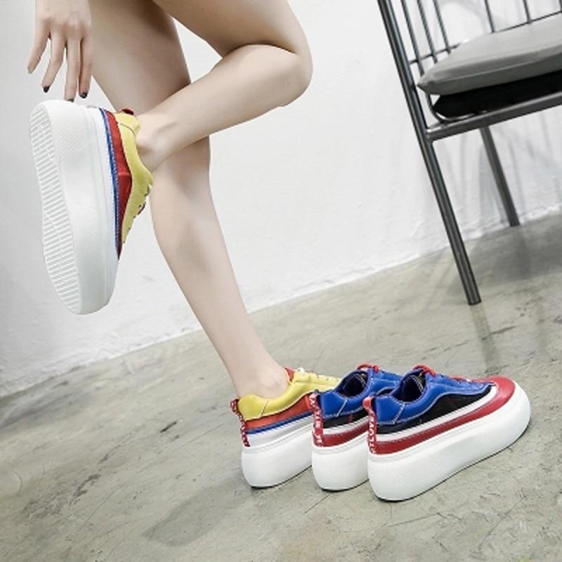 Nueva L Thick Coreana 100 De Loosecake Versión Azul Zapatos Toma Mujer Super Malla Superficie Verano Fuego amarillo Bottom 2018 Ins Aumentar Transpirable wnYH8