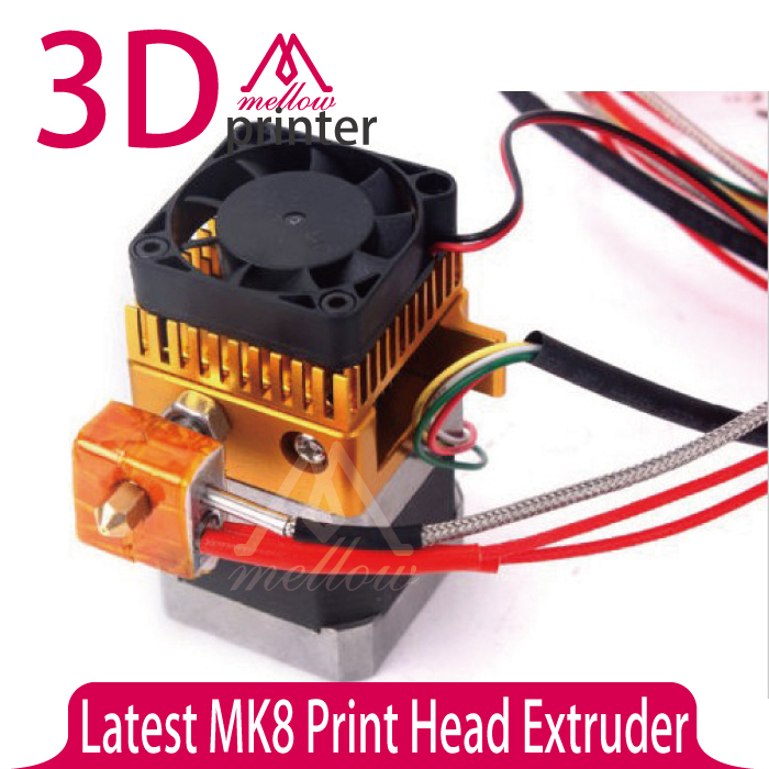 Latest Upgrade 0.4mm Nozzle 1.75mm MK8 Print Head Extruder hotend kit for 3D Printer Accessory