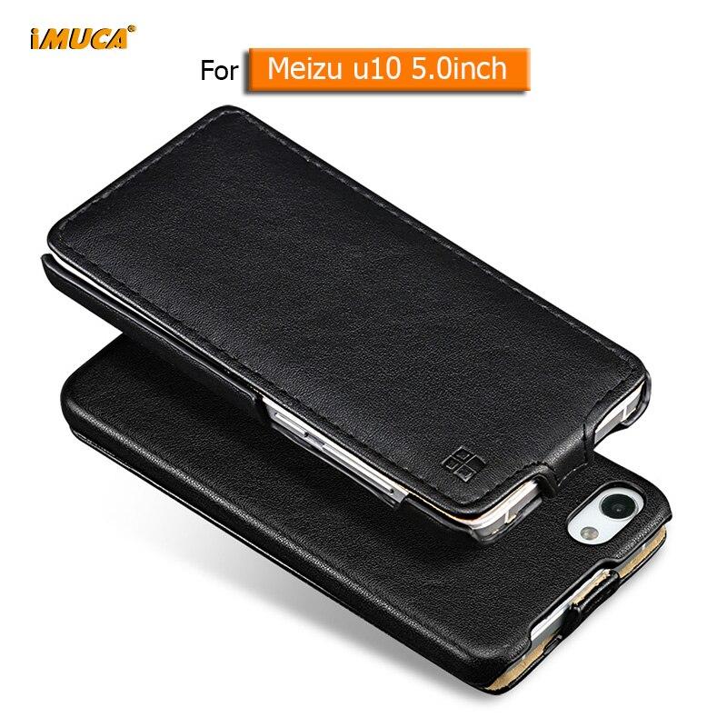 Meizu u10 case cover iMUCA protective case flip leather cover capa coque for meizu u10 u 10 phone case Premium tempered glass