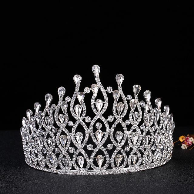 Europa y la joyería del rhinestone fábrica directa party novia de la boda tiara headbands campeonato actuaciones Gran corona