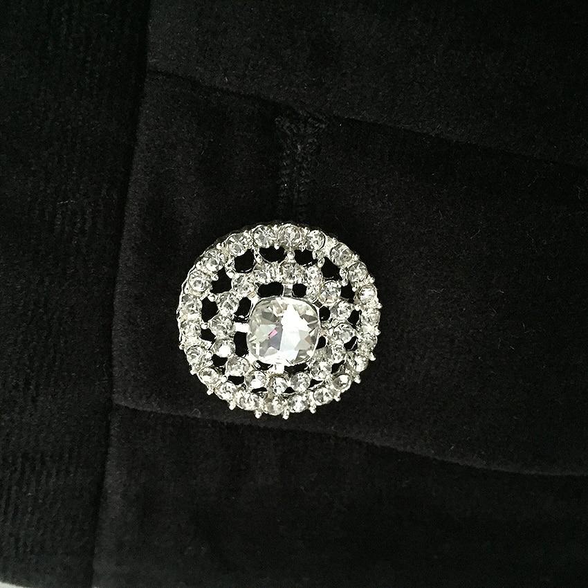 Veste Velours Boutons Externe Diamants Nouvelle Mode 2019 De Rue Designer Cristal Usage Femmes Blazer wTqU1CnX1x