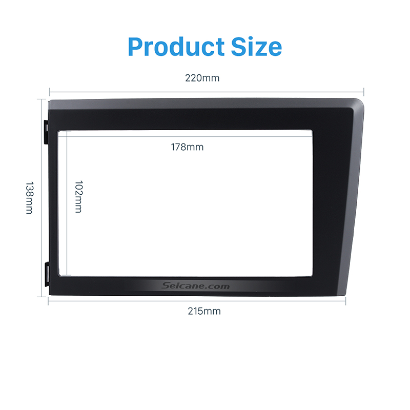 Seicane Double Din Car Radio Fascia Trim Kit Frame Panel