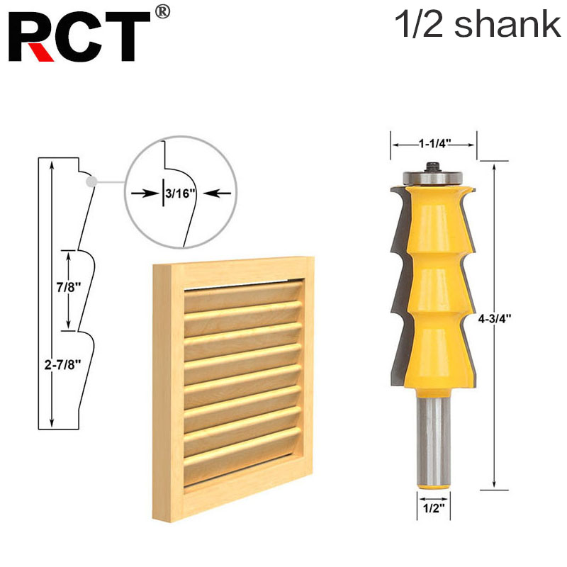 1pc Louver Shutter Style Router Bit - 1/2 Shank door knife Woodworking cutter Tenon Cutter for Woodworking Tools 1 2 door nail cutter knife household west tenon joints fit together stitching carpentry knife blade 3pcs et