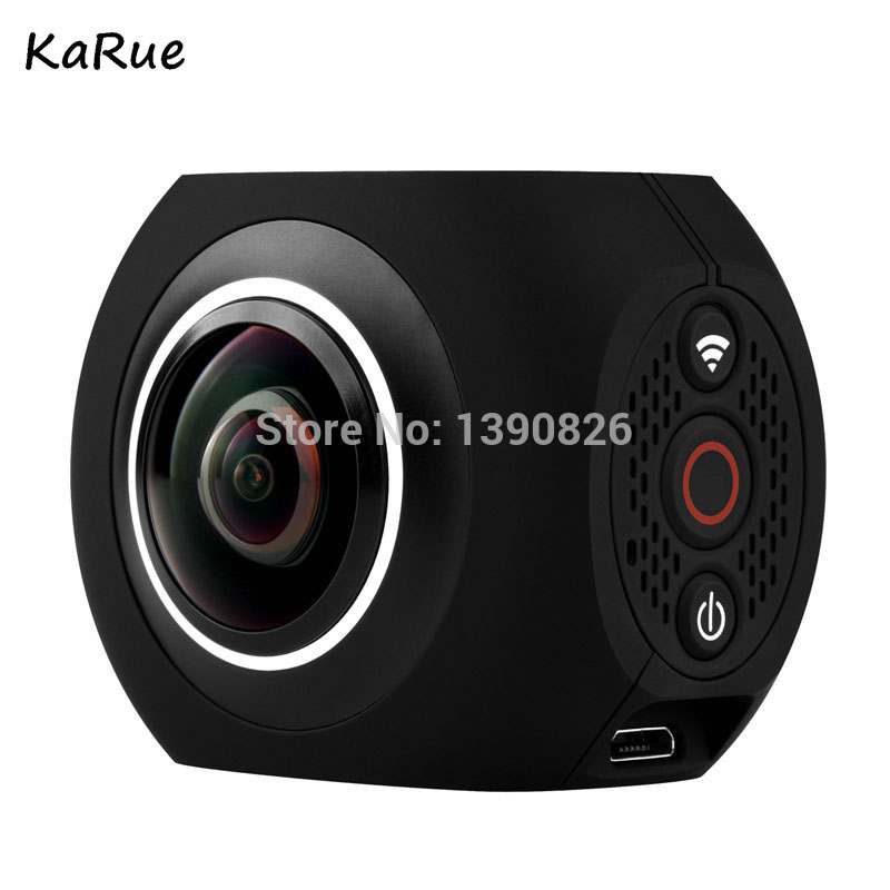 karue Pano360 Action Camera Ultra HD 4K Sport DV 360 Degree Wide Angle WiFi Control photographic