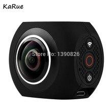 Karue Pano360 действие Камера Ultra HD 4 К Спорт DV 360 градусов широкий угол Wi-Fi Управление фотографического спортивные видео камера