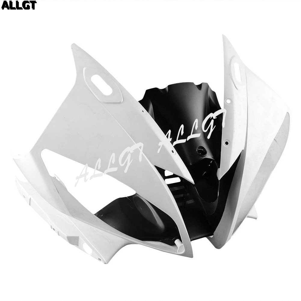 ALLGT Motorcycle Upper Front Fairing Cowl Nose For Yamaha YZF R6 2006 2007 Unpainted ABS Injection unpainted abs plastic front fender fit for yamaha 2008 2012 yzf r6 injection mould motorcycle fairing frame cover part